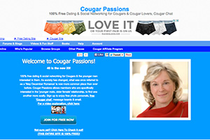 Cougar Passions homepage
