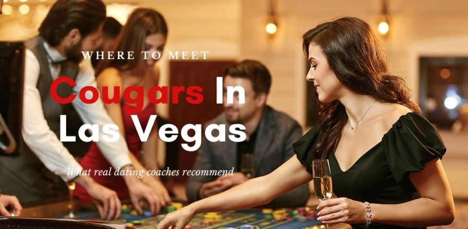 A single cougar in Las Vegas sitting at table roulette playing poker at a casino.