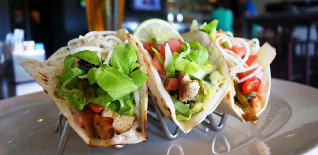 Tacos from Cuatro Restaurant and Bar