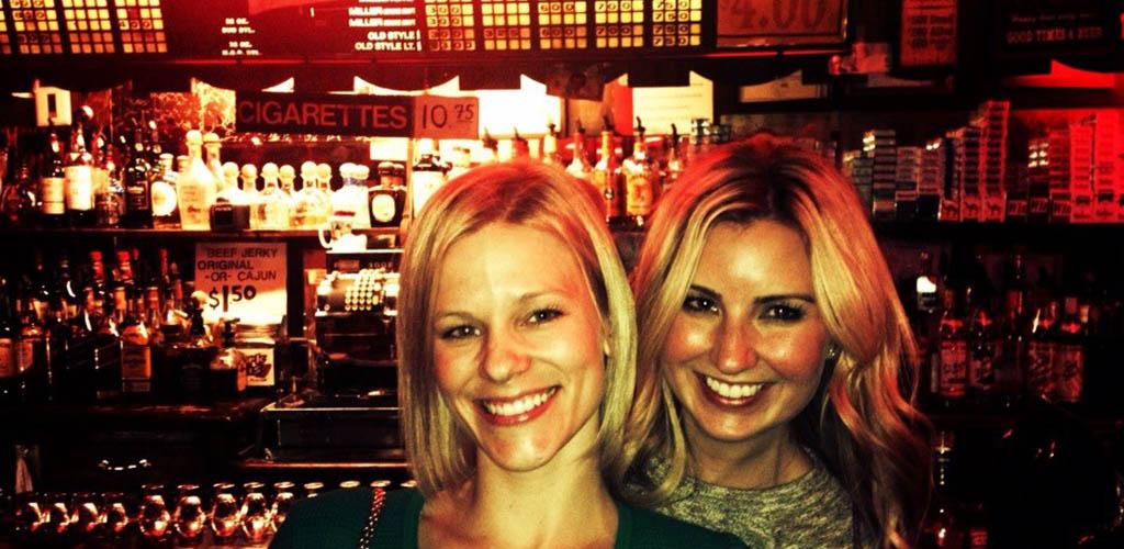 Women at enjoying an evening at Richard's Bar