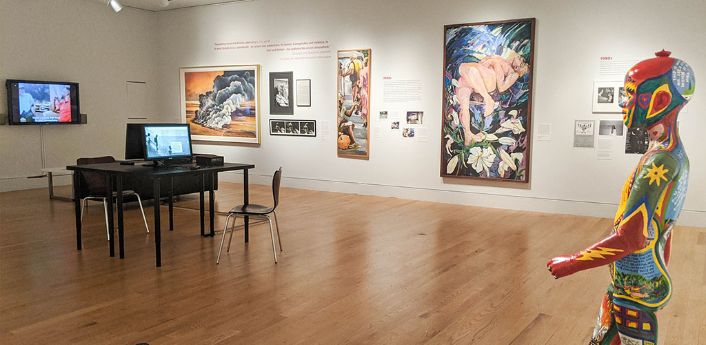 Artworks on display at the Art Gallery of Hamilton