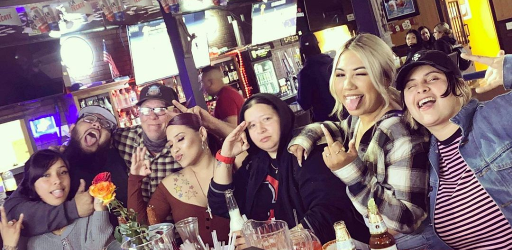 Bakersfield MILFs having drinks with friends at Grandma's Spots Bar and Grill