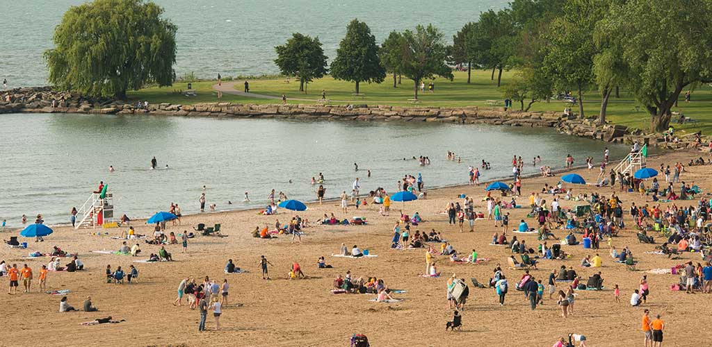 Lot of Cleveland MILFs hanging out at Edgewater Park