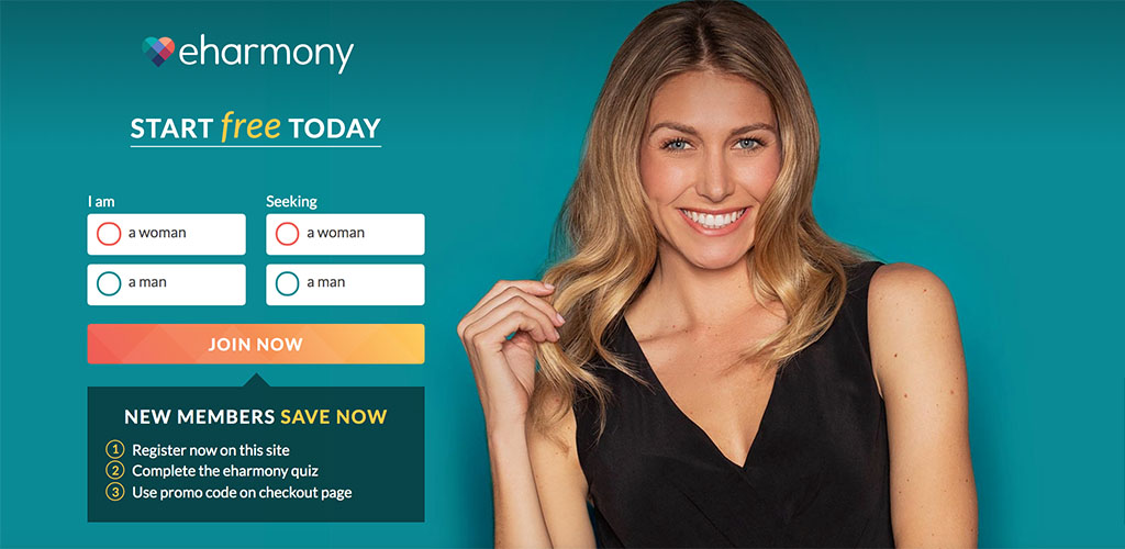 Homepage for eharmony.com