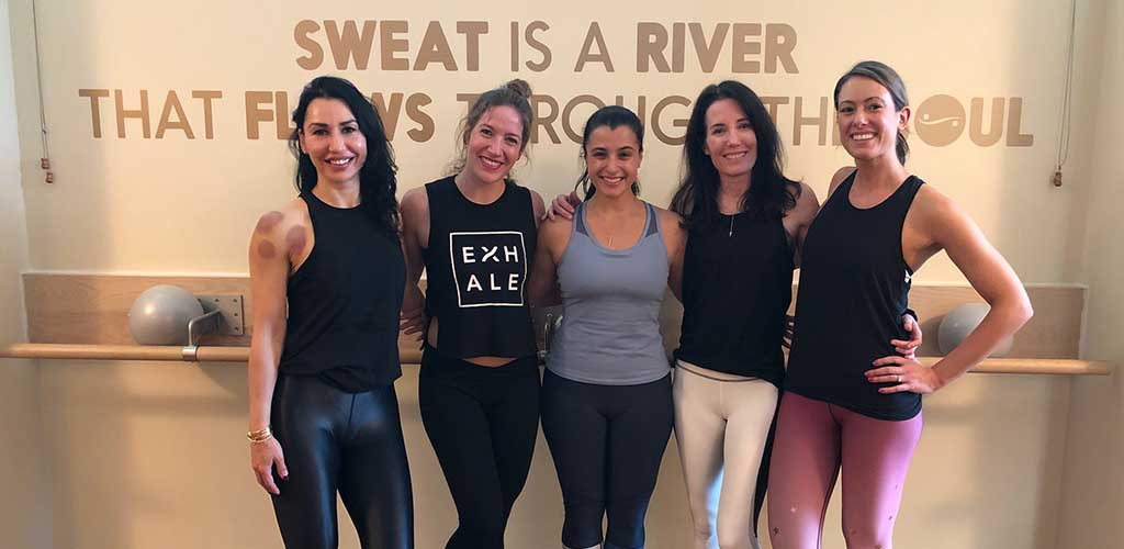 Mature women after a workout at Exhale Spa