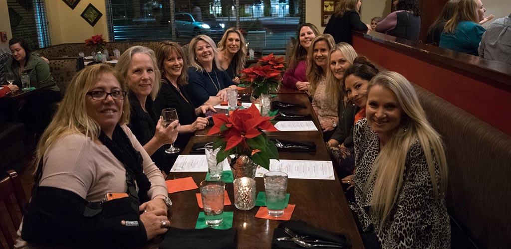 Mature women having dinner at Firebrew