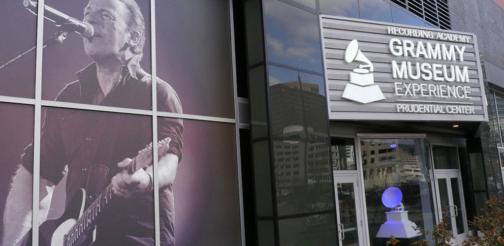 Outside the Grammy Museum Experience