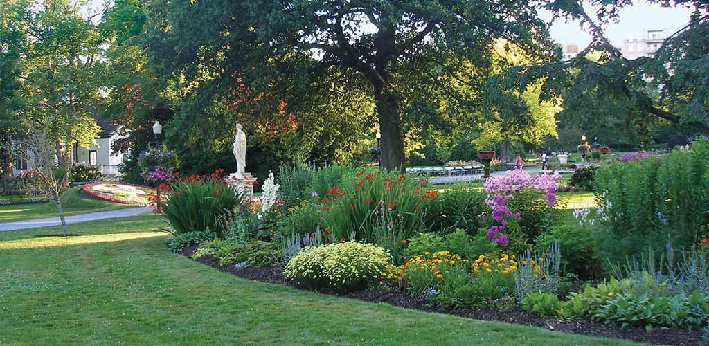 The beautiful gardens of the Halifax Public Gardens