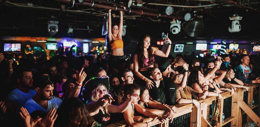 The rowdy party crowd at Peabody's Nightclub
