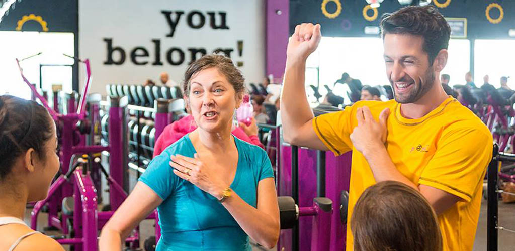 A training session at Planet Fitness Gym