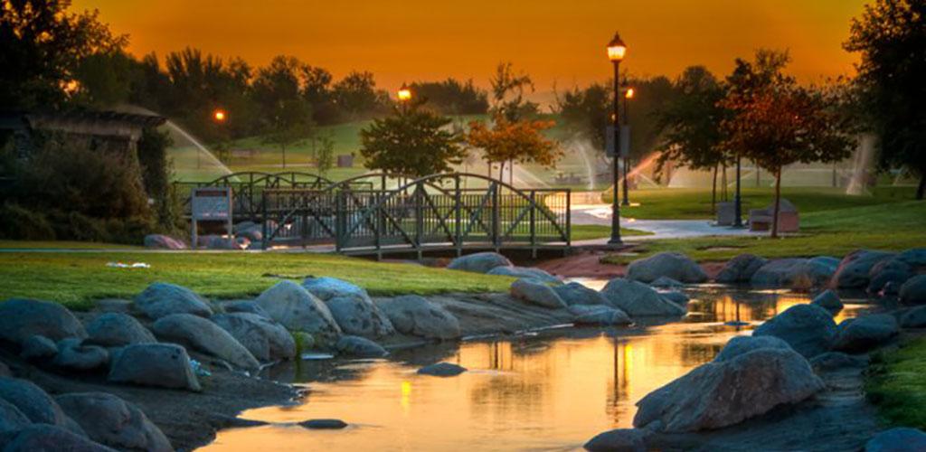 Jastro Park at sunset