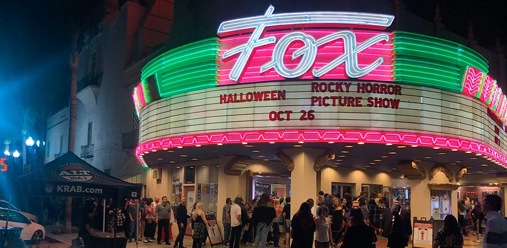 A crowd outside Bakersfield Fox Theater