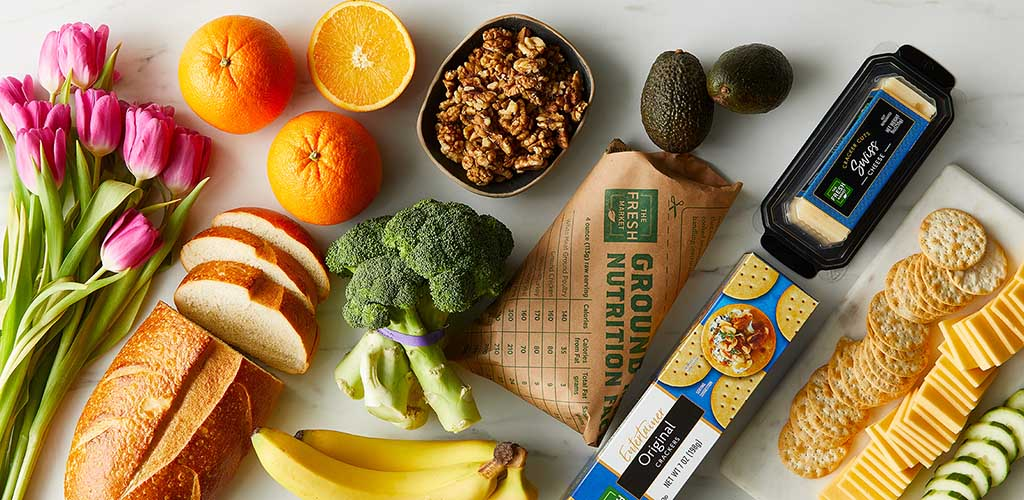 Various healthy products available at The Fresh Market