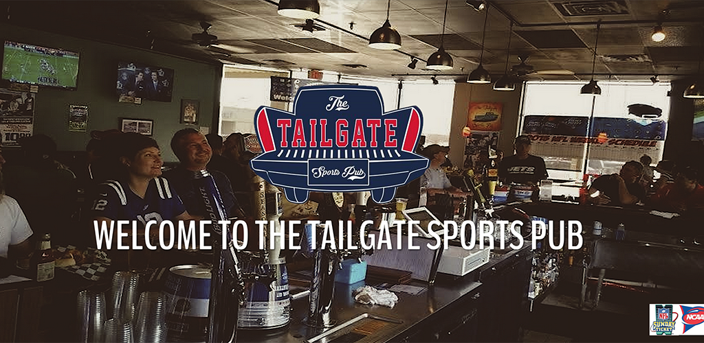Patrons at The Tailgate Sports Pub watching the game