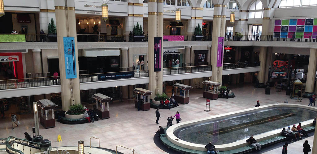 Tower City Center on a quiet day