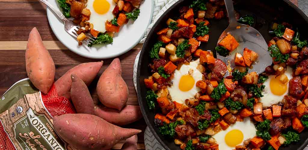 A sweet potato dish made with ingredients from Trader Joe's
