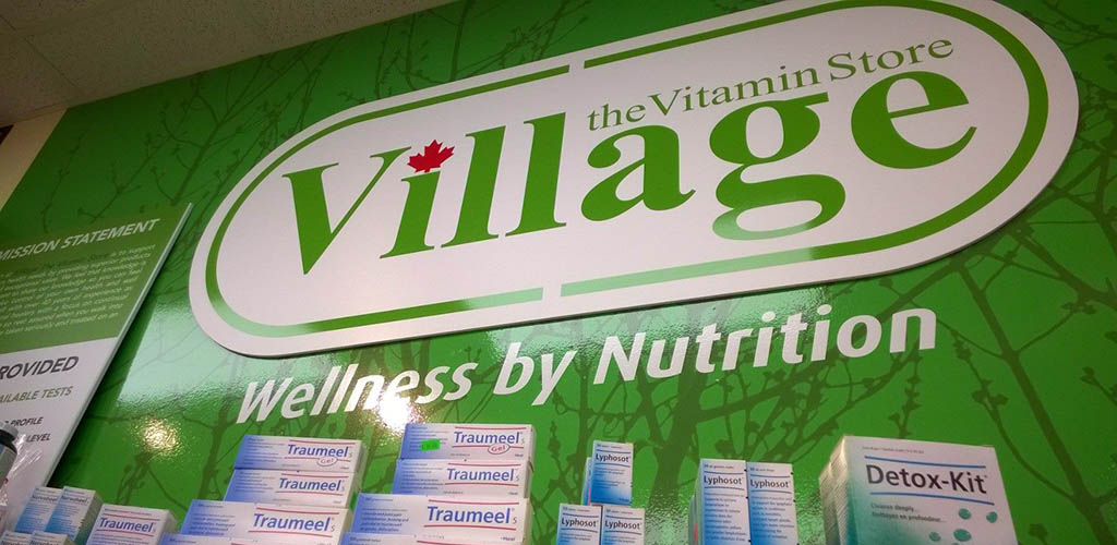 The Village Vitamin Store sign