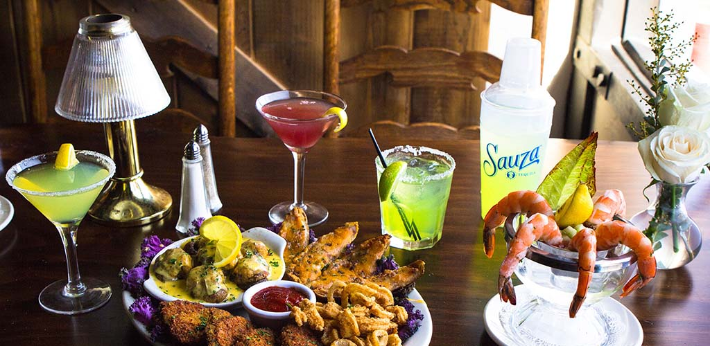 Drinks and appetizers from 94th Aero Squadron