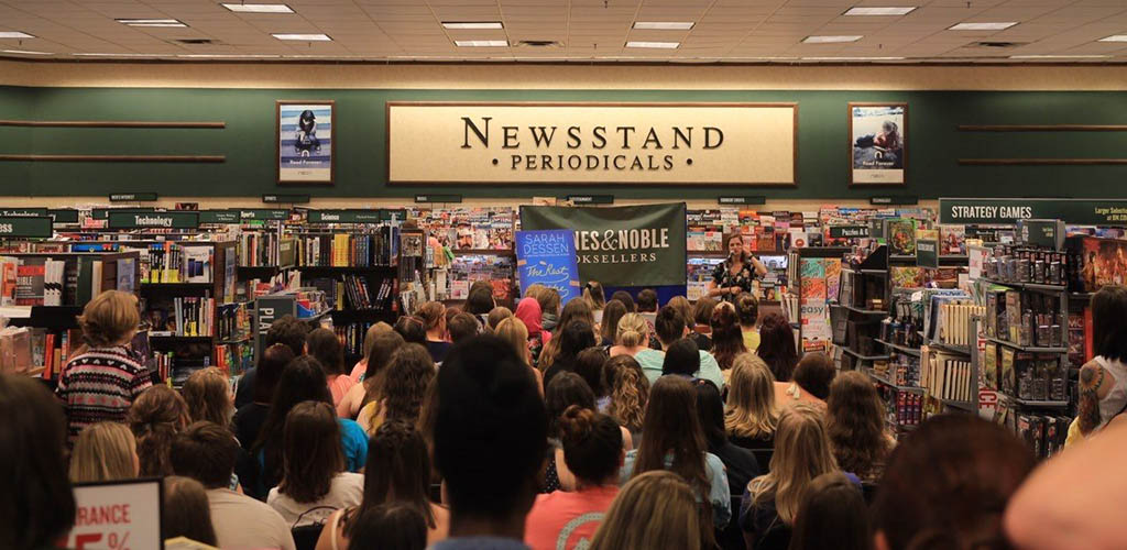Dozens of women during an event at Barnes and Noble