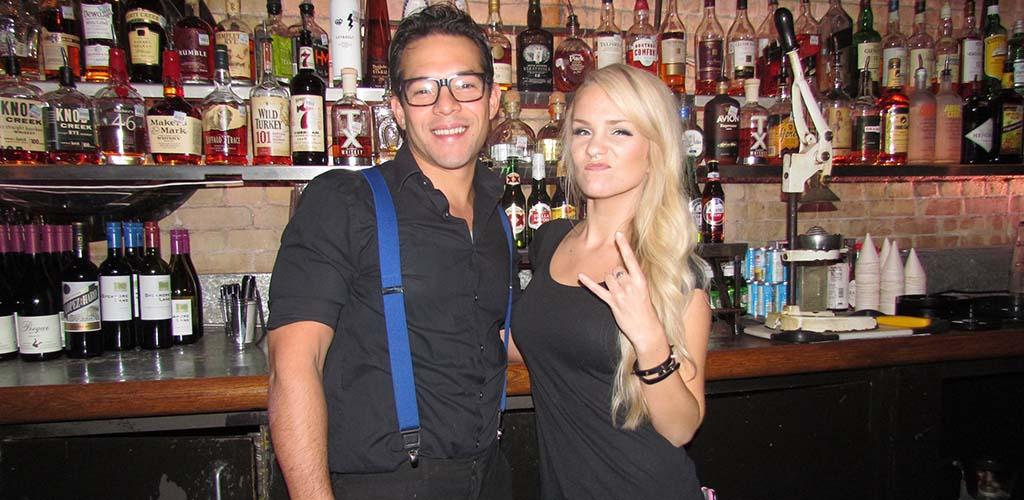 The attractive bartenders at Cedar Street Courtyard
