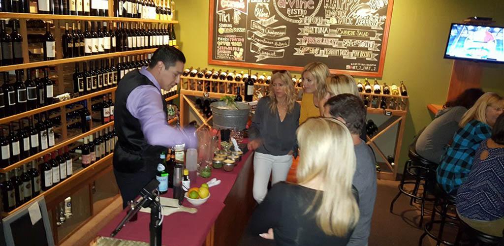 Women sampling wines at D'Vine Bistro & Wine Bar