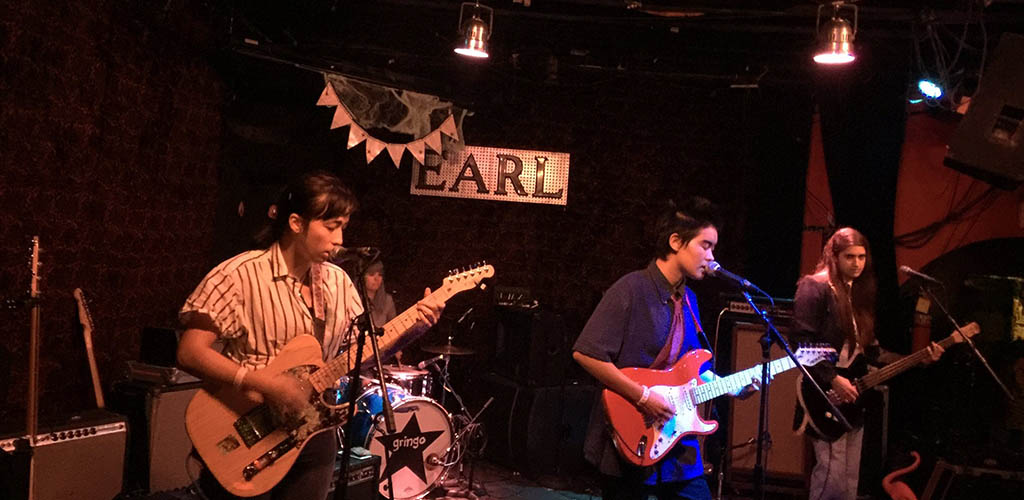 A live performance from a rock band at The Earl