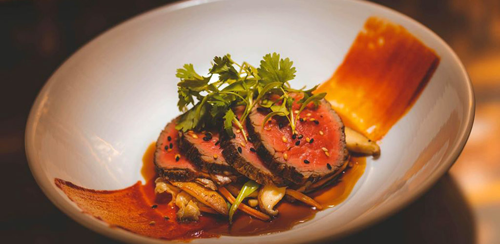A rare steak from Eddie V's