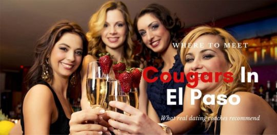 A group of attractive cougars in El Paso drinking champagne at a bar