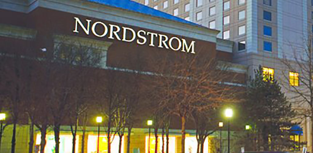 The Nordstrom sign at Fashion Center, Pentagon City