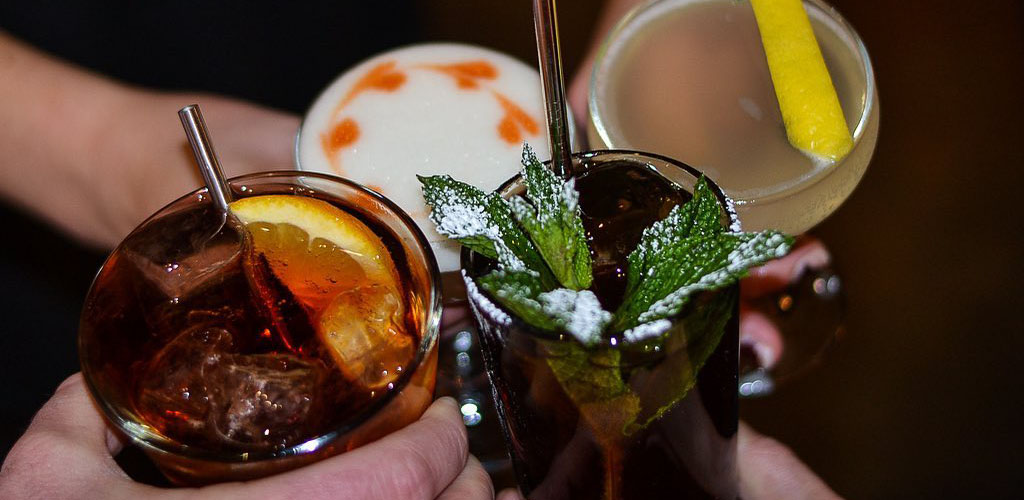 Various cocktails from Fox Liquor Bar