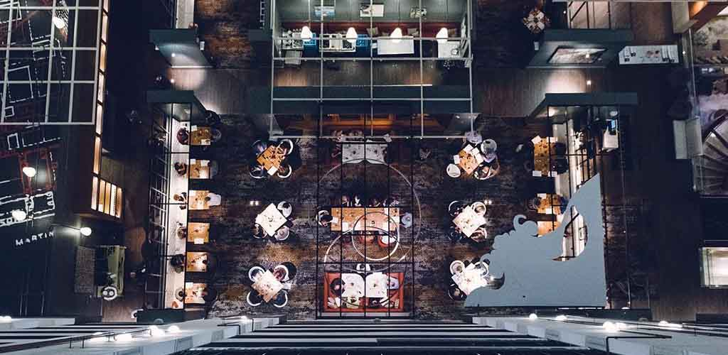 Top view of Gallerie Bar and Bistro