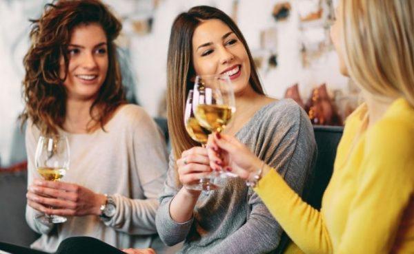 San Jose Milfs toasting at a bar