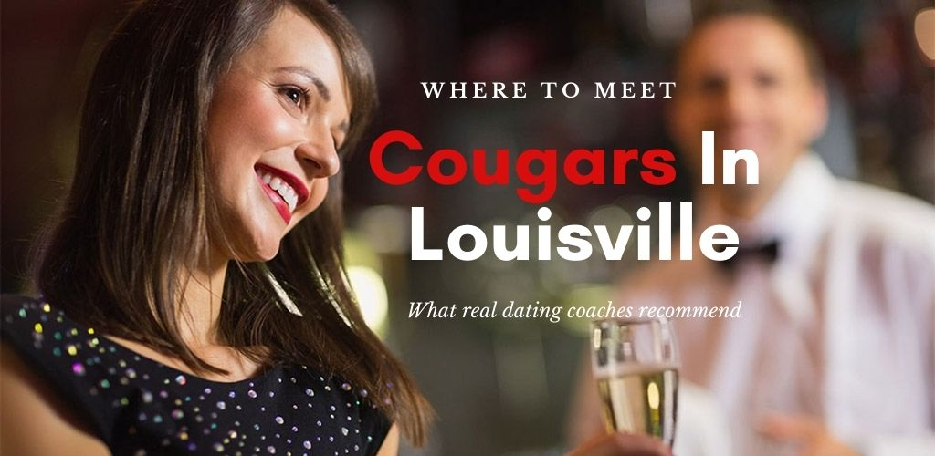 A Louisville cougar holding a drink at a bar