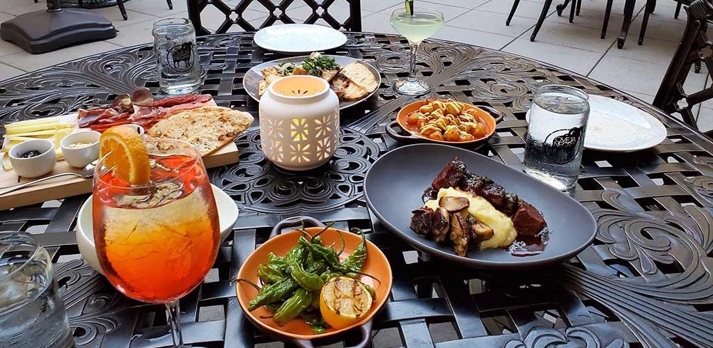 An array of appetizers from Vbar