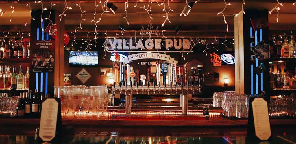 The bar area of Magnolia Village Pub