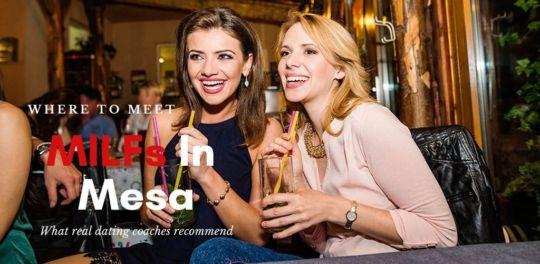 Lovely Mesa MILFs drinking at a bar