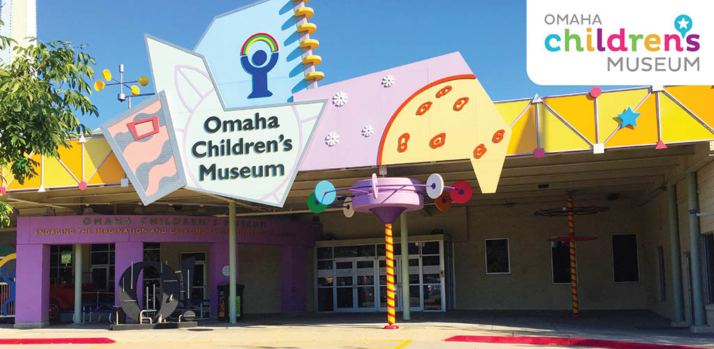 Outside the Omaha Children's Museum before opening