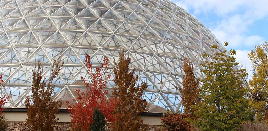 The giant glass dome at the Henry Doorly Zoo and Aquarium