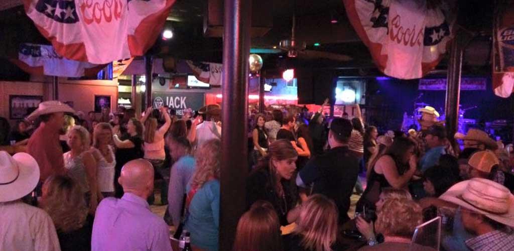 The dance floor of Rodeo Exchange