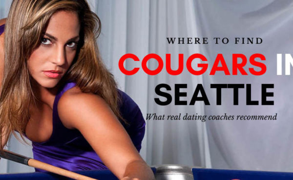 A seductive Seattle cougar playing billiards