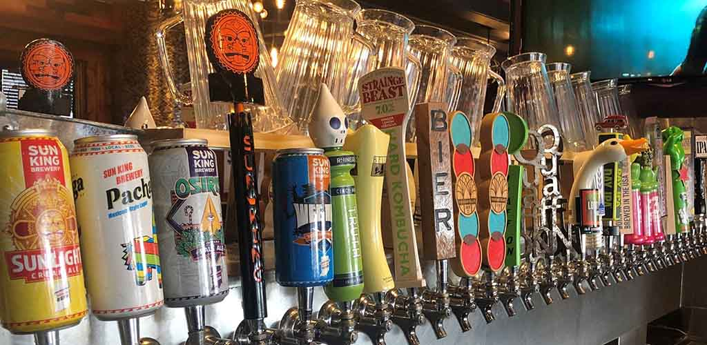 Tap handles from The District Tap