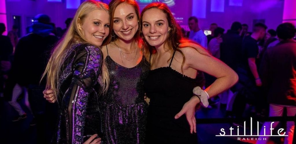 Young Raleigh MILFs hanging out at Still Life nightclub