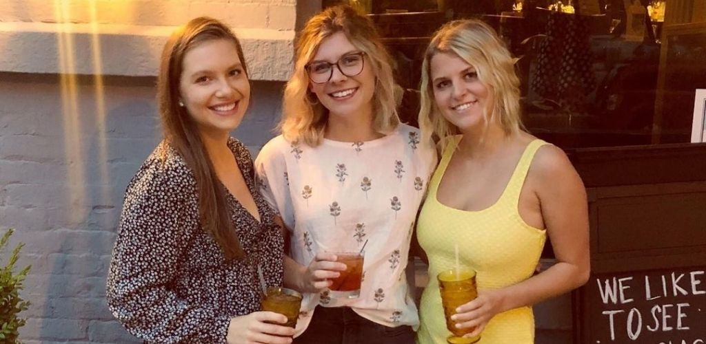 Young Milwaukee cougars with drinks at The Outsider Rooftop and Bar