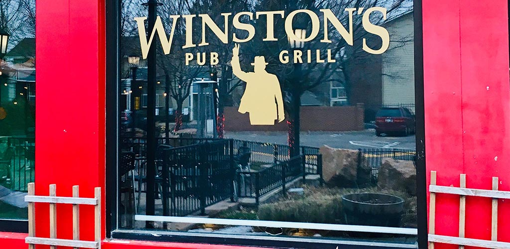 The charming signage of Winston's Pub & Grill - DTC