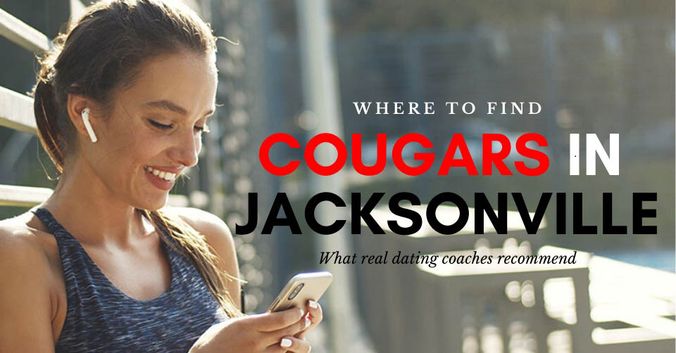 A Jacksonville cougar on her phone while jogging