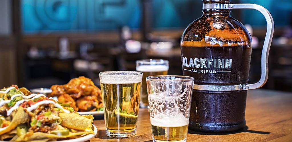 Drinks and appetizers from Blackfinn Ameripub Ballantyne