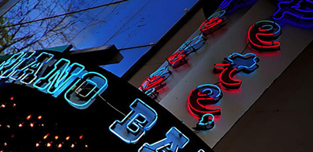 Pete's Dueling Piano Bar exterior sign
