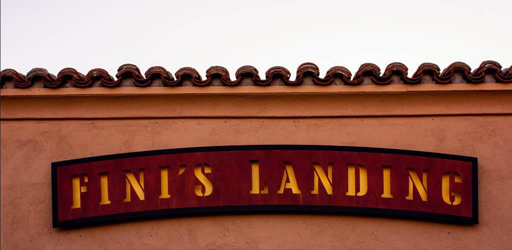 Signage of Fini's Landing