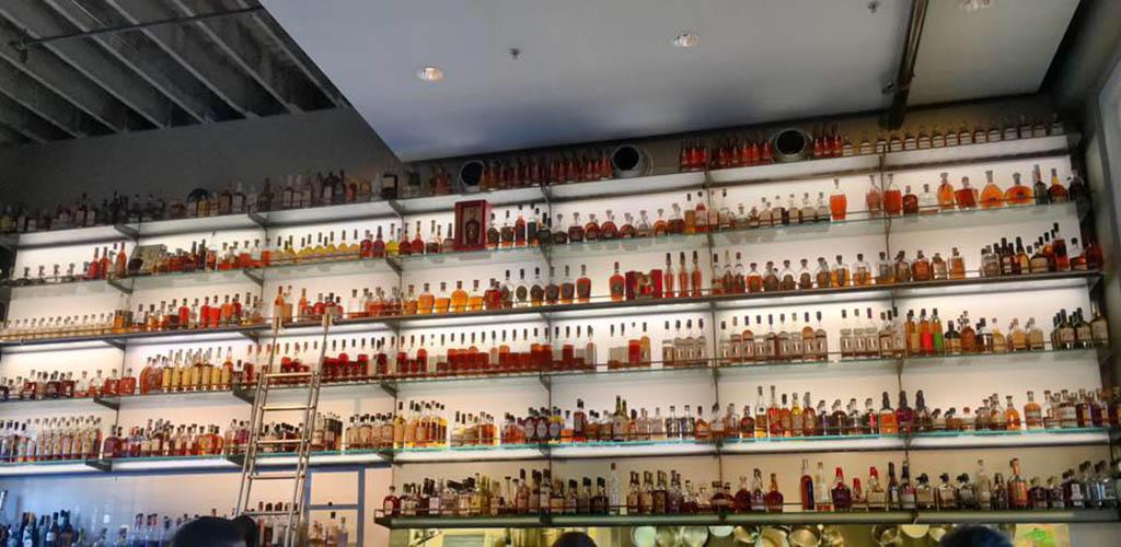 Whiskey selection at Hard Water