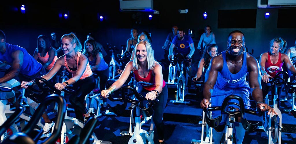 An energizing spin class at JoyRide Studio